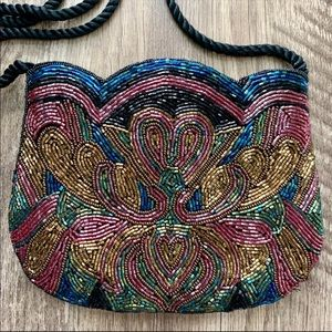 Vintage Beaded Tulip Evening Bag